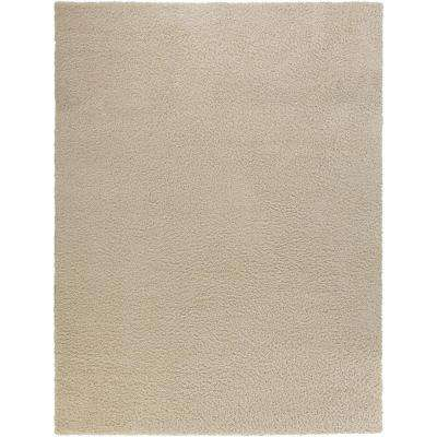 Shag Cream 8 ft. x 10 ft. Area Rug