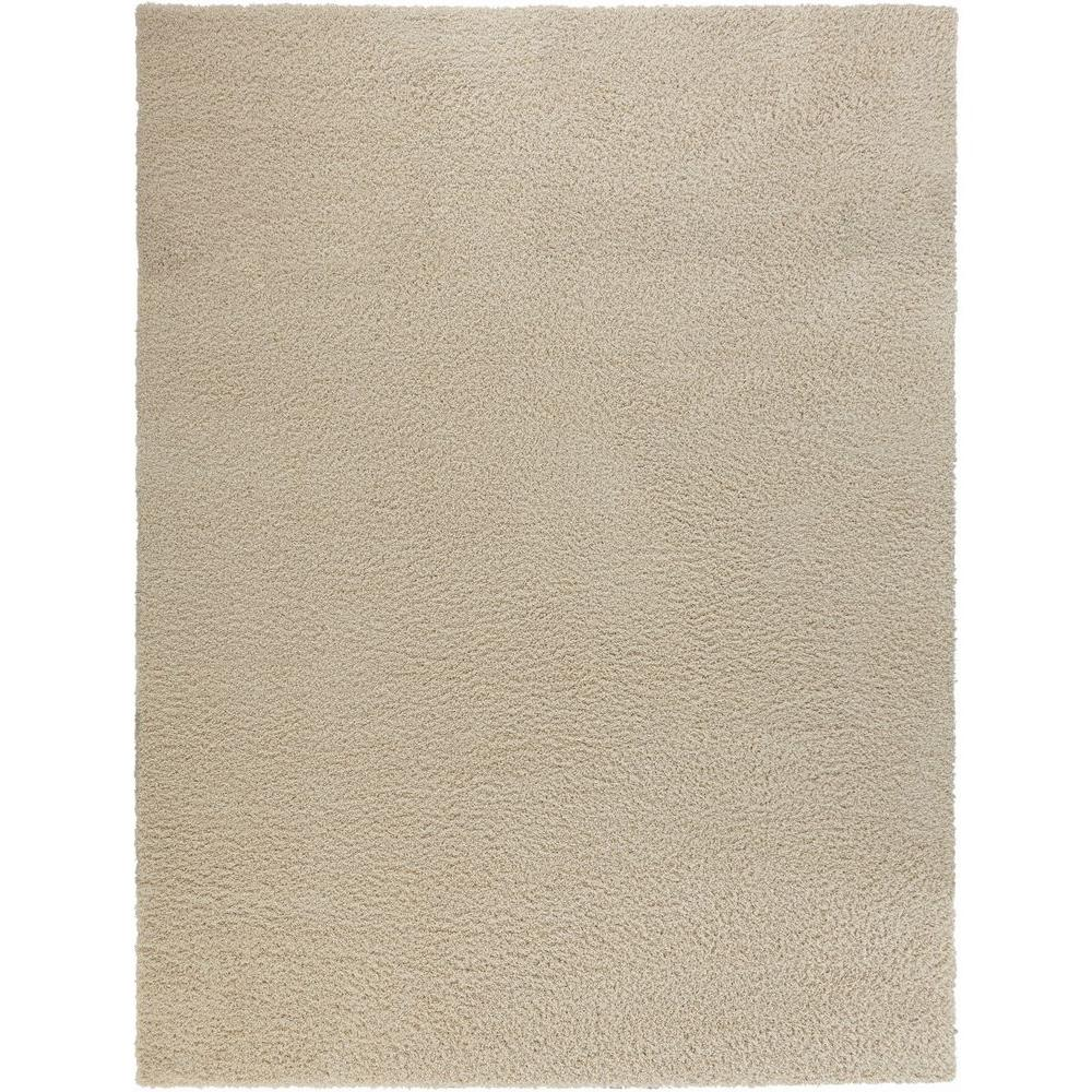 Shaggy Cream 9 Ft X 13 Area Rug