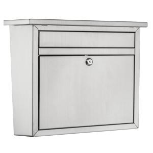 Architectural Mailboxes Maya Locking Stainless Steel Wall Mount Mailbox by Architectural Mailboxes