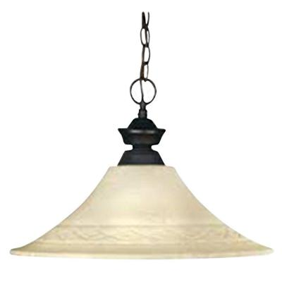 Lawrence 1-Light Olde Bronze Incandescent Ceiling Pendant
