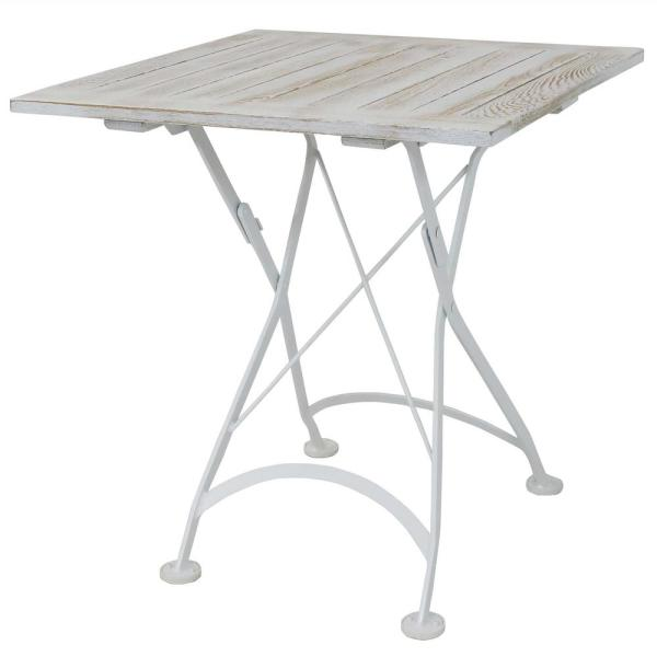 28 in. European Chestnut Wood Folding Square Bistro Dining Table