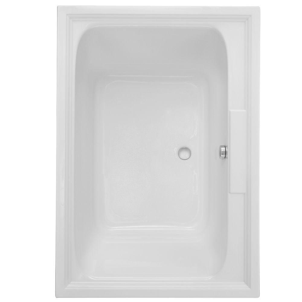 American Standard Town Square 60 In X 42 Center Drain Everclean Air Bath