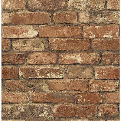 Oxford Rust Brick Texture Wallpaper