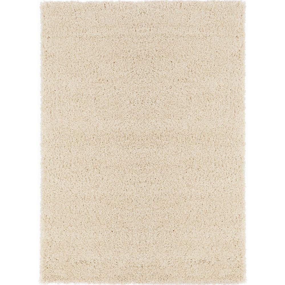 Sweet Home Stores Cozy Shag Collection Cream 5 ft. x 7 ft. Indoor Area Rug, Ivory was $68.48 now $54.78 (20.0% off)