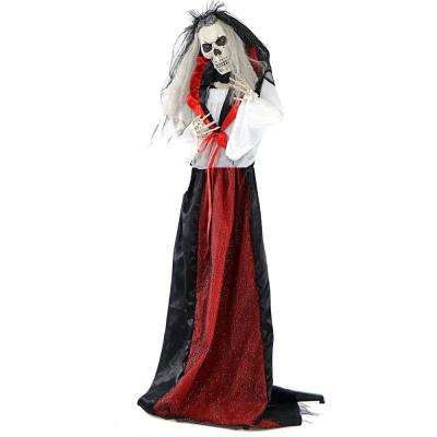 5.5 ft. Animatronic Moaning Skeleton Bride Halloween Prop