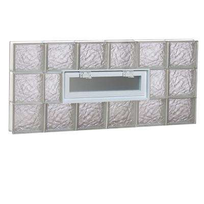 46.5 in. x 21.25 in. x 3.125 in. Ice Pattern Vented Glass Block Window