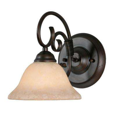 Homestead Collection 1-Light Rubbed Bronze Sconce