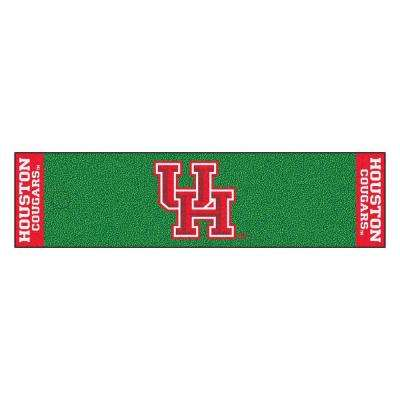 NCAA University of Houston 1 ft. 6 in. x 6 ft. Indoor 1-Hole Golf Practice Putting Green