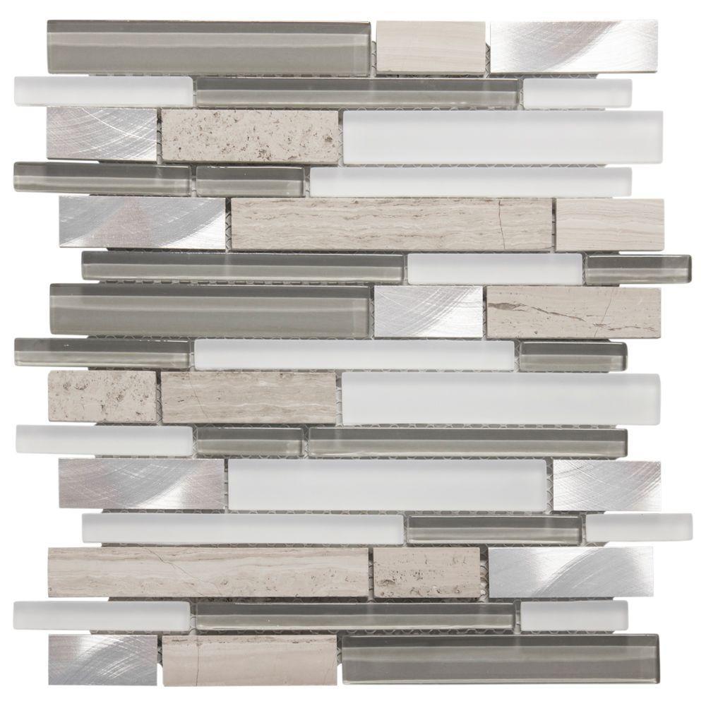 Glass Wall Tile: Jeffrey Court Moon Patrol 11.75 In. X 12 In. X 8 Mm Glass