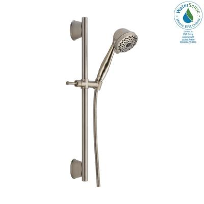 7-Spray Wall Bar Shower with Handheld Showerhead in Stainless