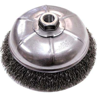 6 in. Crimped Wire Cup Brush For Use With Angle Grinders