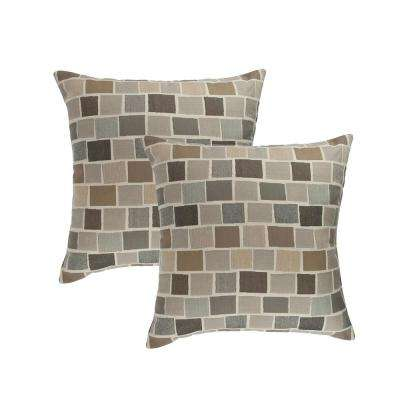 Blox Slate 18 in. Outdoor Pillow (set of 2)