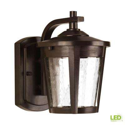 East Haven Collection 1-Light 7.9 in. Outdoor Antique Bronze LED Wall Lantern