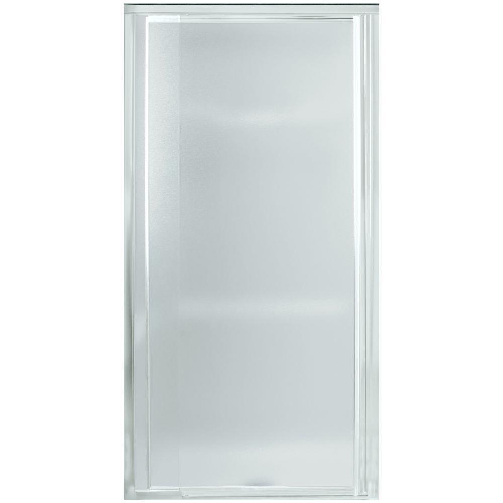 Vista Pivot II 26-1/2 in. x 65-1/2 in. Framed Pivot Shower Door in Silver with Handle