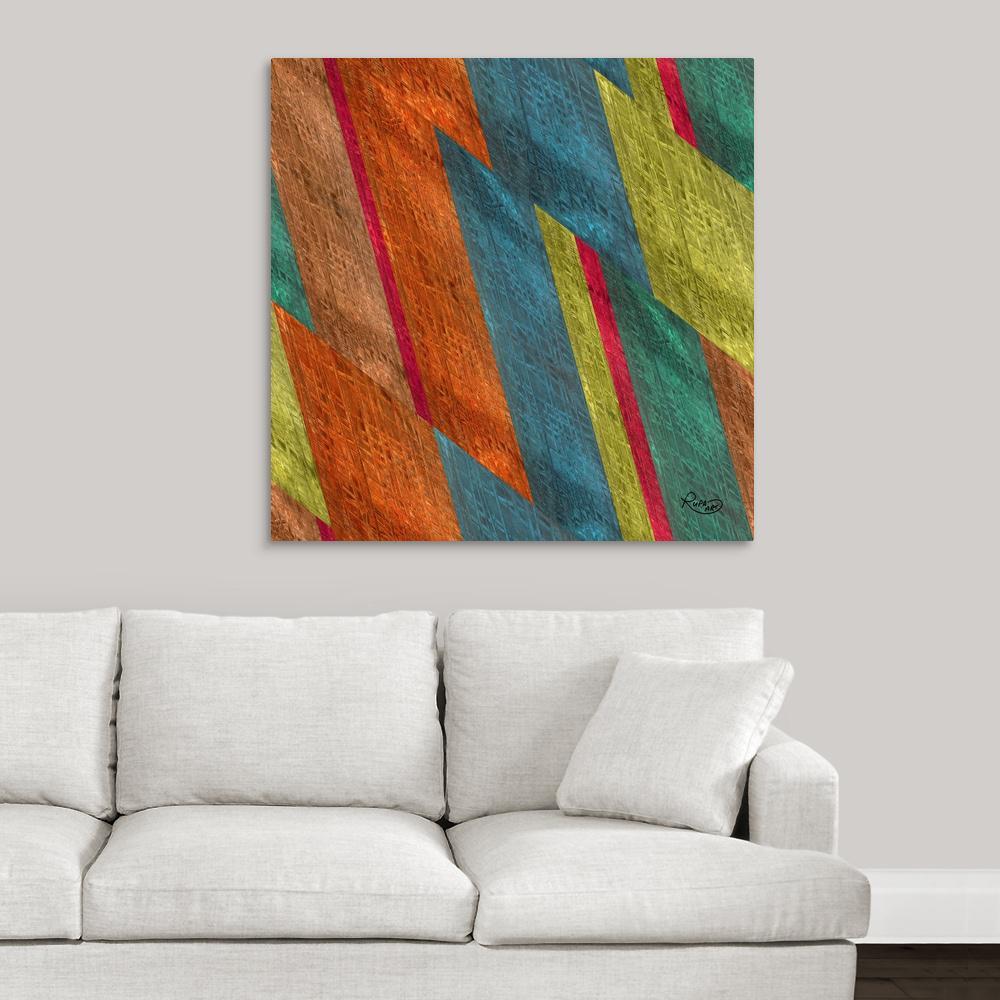 Sheared Grid Ii By Rupa Art Canvas Wall