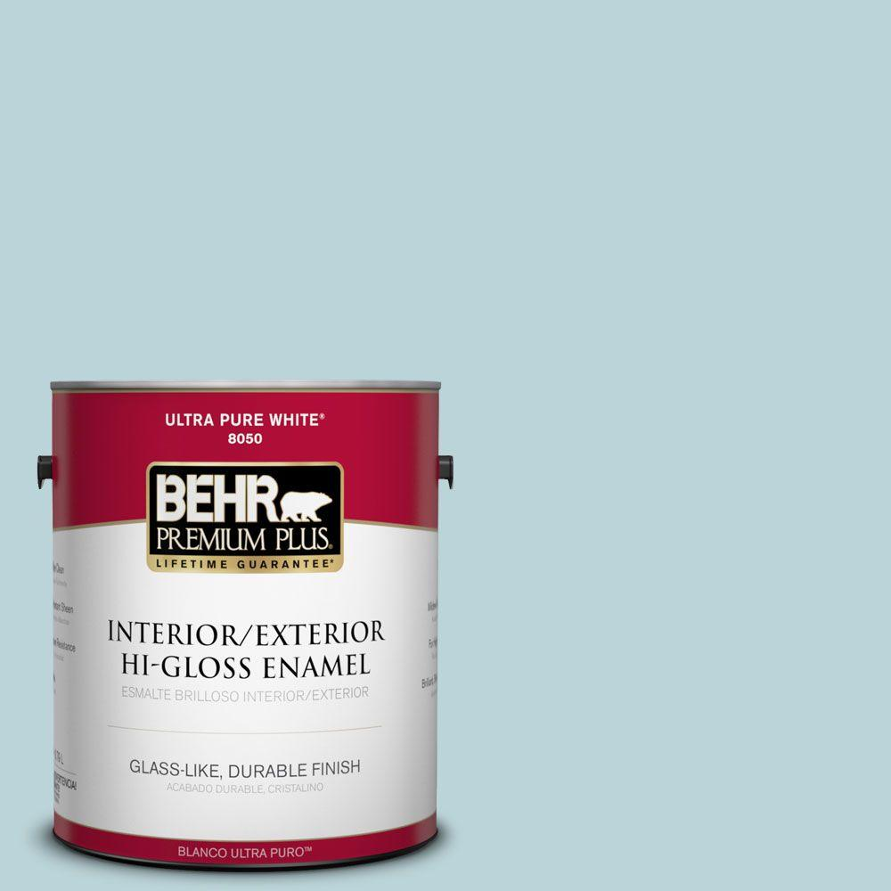 1-gal. #510E-2 Rhythmic Blue Hi-Gloss Enamel Interior/Exterior Paint