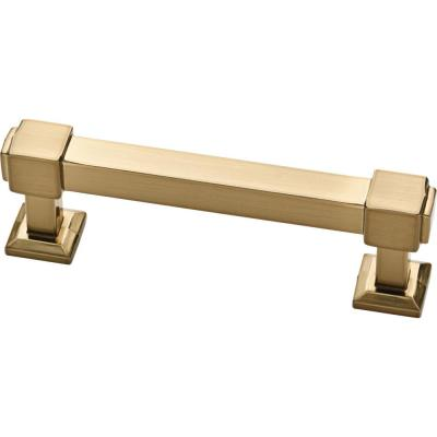 Classic Square 3 in. (76mm) Center-to-Center Champagne Bronze Drawer Pull (25-Pack)
