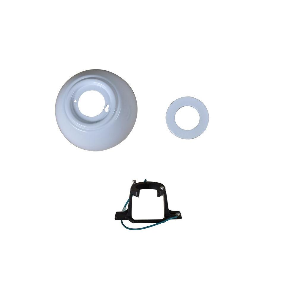 Carrington 60 in. White Ceiling Fan Replacement Mounting Bracket and Canopy