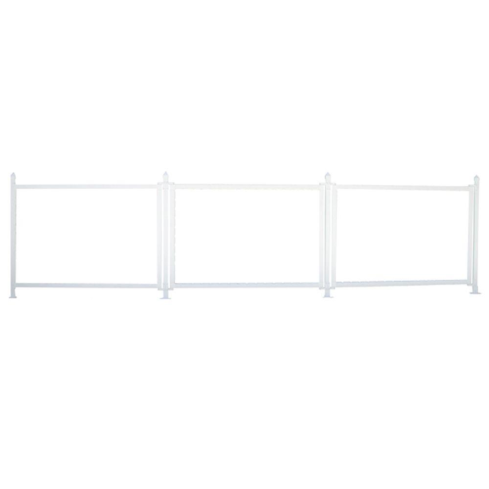 3 ft. x 13 ft. White Modular Vinyl Hinged Sign Kit