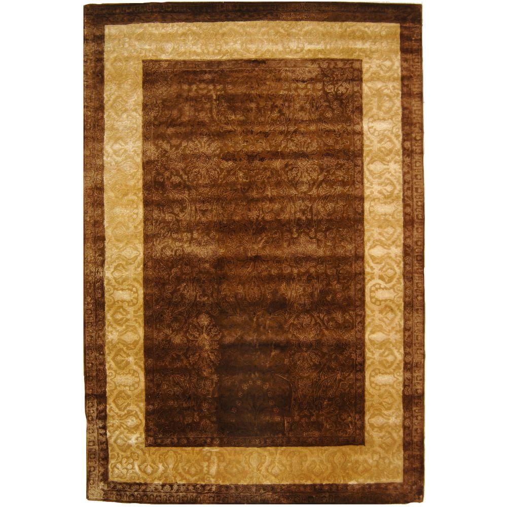 Safavieh Silk Road Chocolate/Light Gold 6 ft. x 9 ft. Area Rug