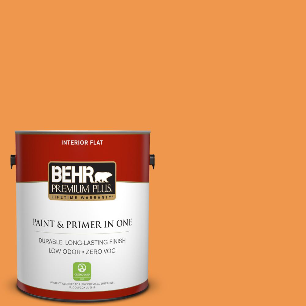 1-gal. #270B-6 Autumn Orange Zero VOC Flat Interior Paint