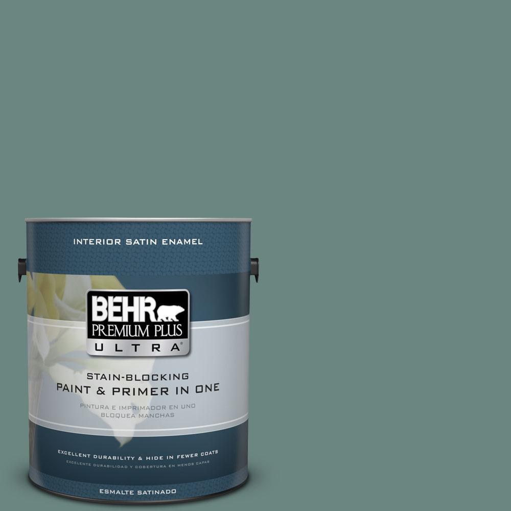 BEHR Premium Plus Ultra 1-gal. #480F-5 Marsh Creek Satin Enamel Interior Paint