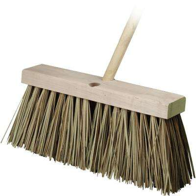 16 in. Street Push Broom with Palmyra Bristles