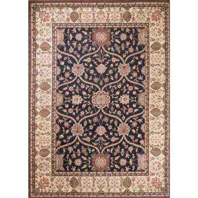 Mooresville Arts and Crafts Black 7 ft. x 9 ft. Area Rug