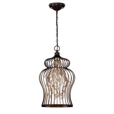 Fanta 10-Light Oil-Rubbed Bronze and Clear Chandelier