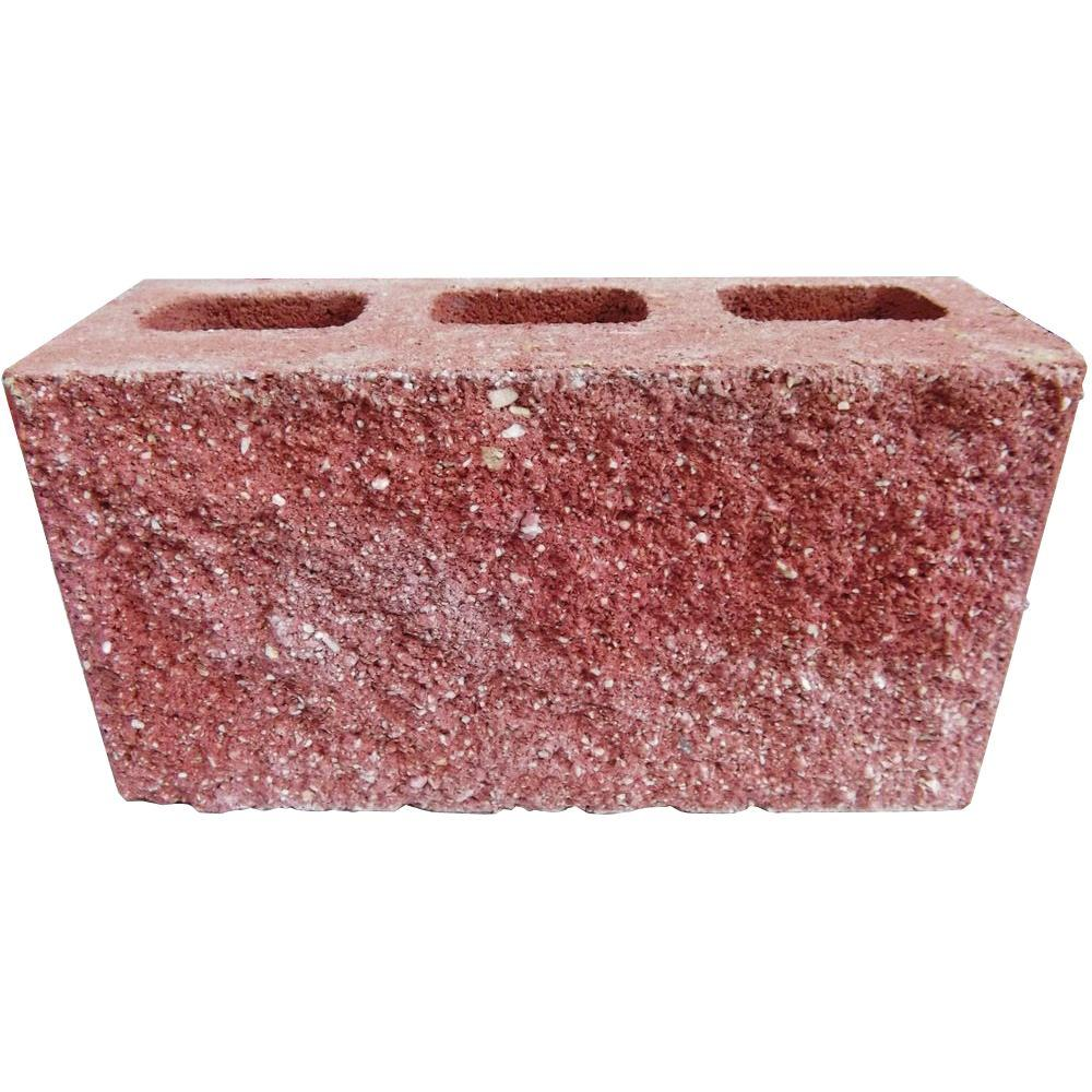 6 in. x 8 in. x 16 in. Red Face Concrete