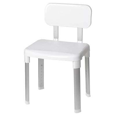 Deluxe Bathroom Safety Shower Seat with Back Support in White