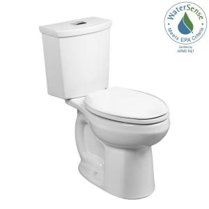 American Standard H2Option Tall Height 2-piece 0.92/1.28 GPF Dual Flush Elongated Toilet with Liner in White by American Standard