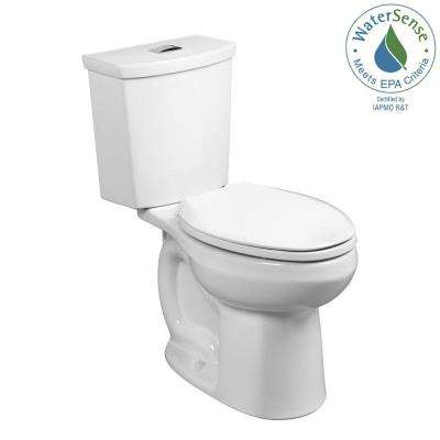 H2Option Tall Height 2-piece 0.92/1.28 GPF Dual Flush Elongated Toilet with Liner in White, Seat Not Included
