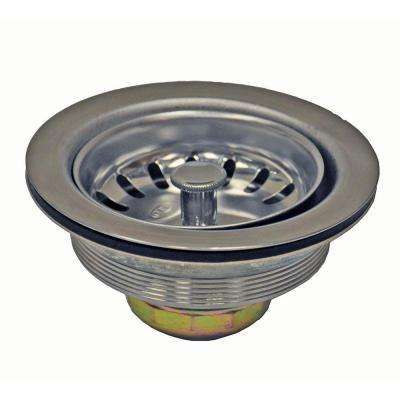 3-1/2 in. Basket Strainer in Stainless Steel