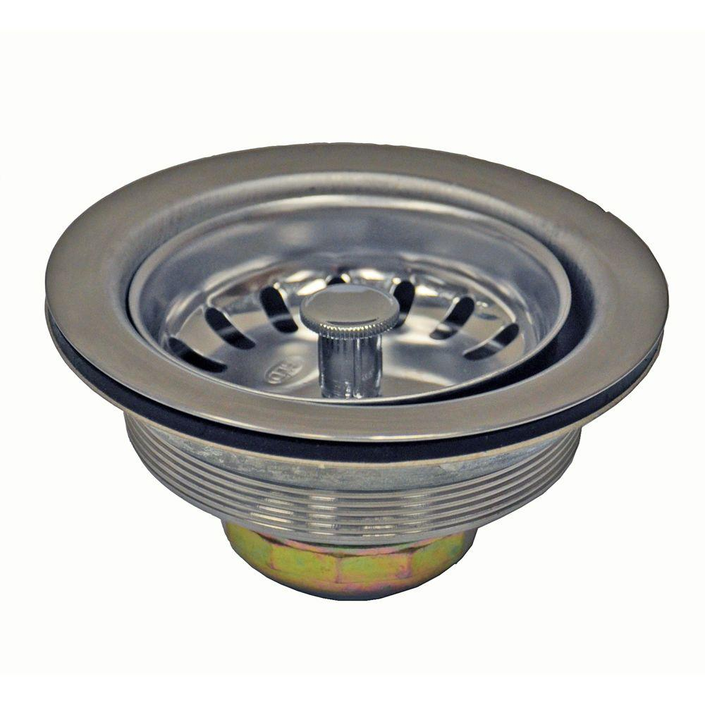 DANCO 3-1/2 in. Basket Strainer in Stainless Steel-89305 - The ...
