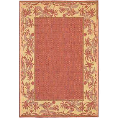 Recife Island Retreat Terracotta Natural 5 ft. x 8 ft. Area Rug