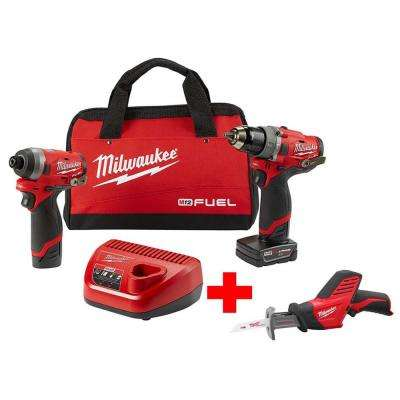 M12 FUEL 12-Volt Li-Ion Brushless Cordless Hammer Drill and Impact Driver Combo Kit (2-Tool)W/ Free M12 HACKZALL