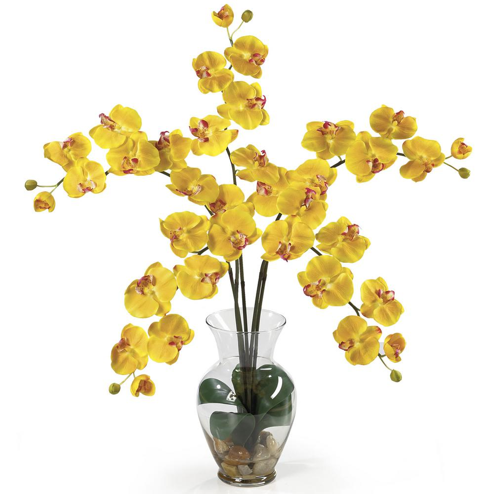Nearly Natural 31 in. Phalaenopsis Liquid Illusion Silk F...
