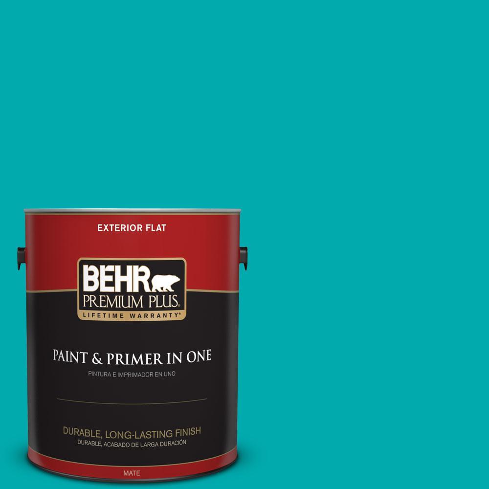 BEHR Premium Plus 1-gal. #P460-5 Fiji Flat Exterior Paint
