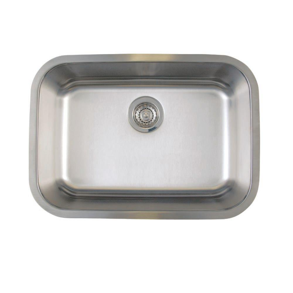 Blanco Stellar Undermount Stainless Steel 25 In. Medium Single Bowl Kitchen  Sink 441025   The Home Depot