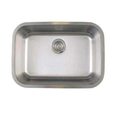 Stellar Undermount Stainless Steel 25 in. Medium Single Bowl Kitchen Sink