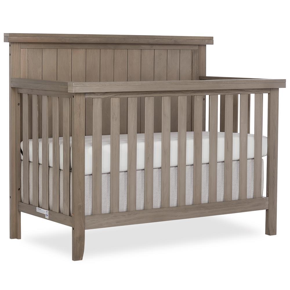 Maple Oak Grey 4 in 1 Convertible Crib