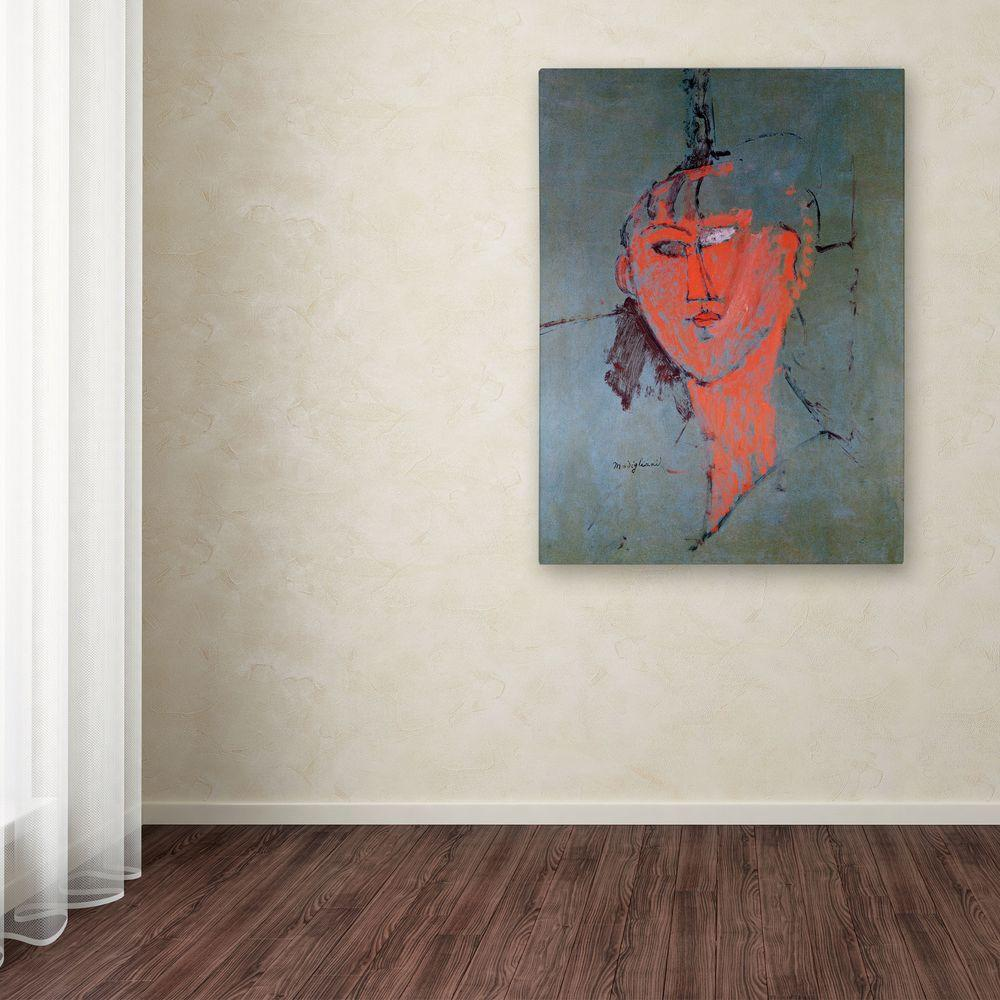 19 in. x 14 in. The Red Head Canvas Art