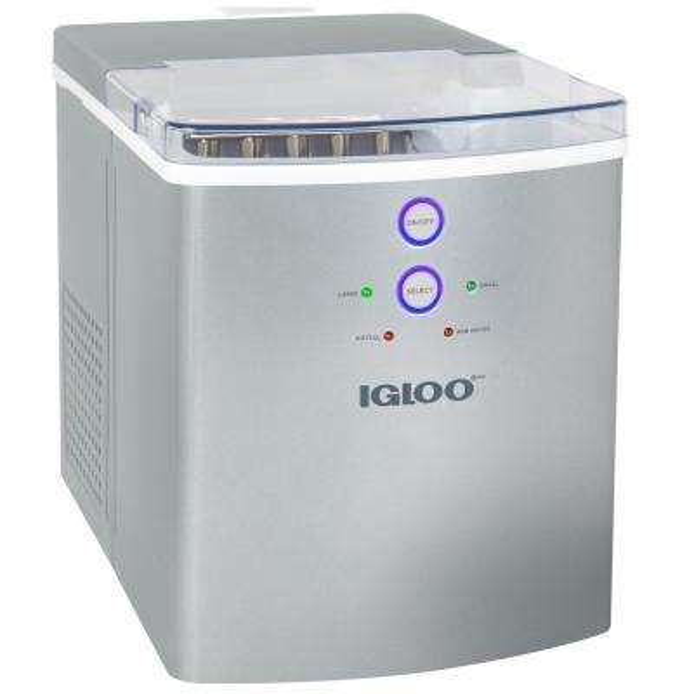 33 lb. Automatic Portable Countertop Ice Maker in Silver