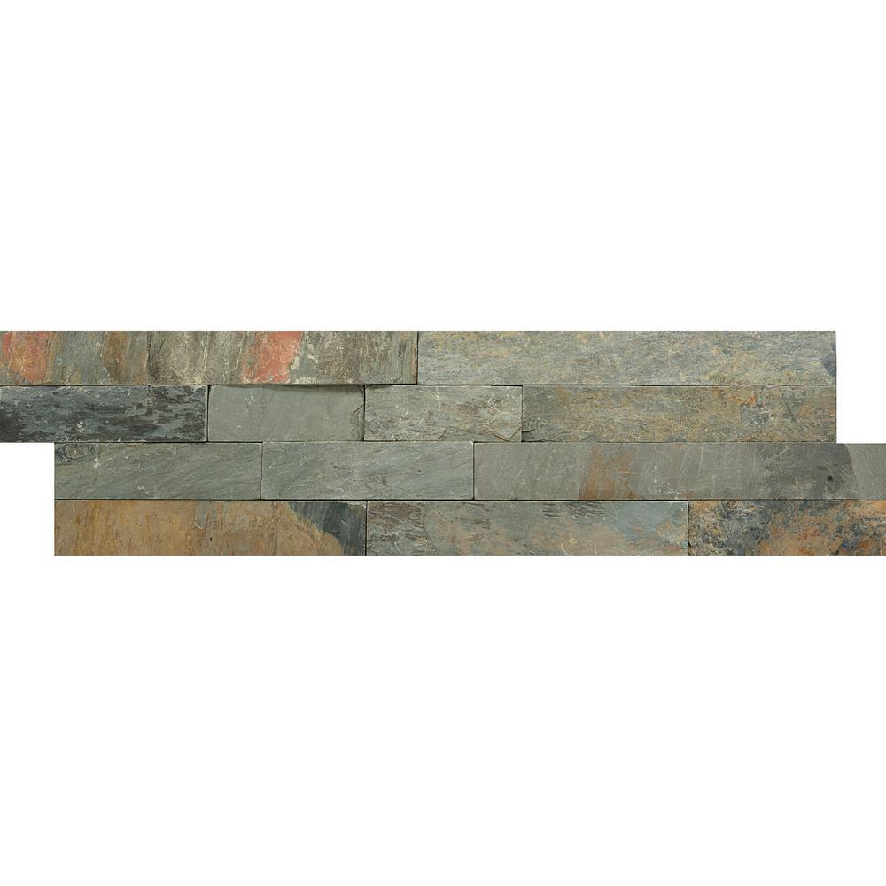 Slate Rustic Gold 6.02 in. x 24.02 in. Slate Wall Tile