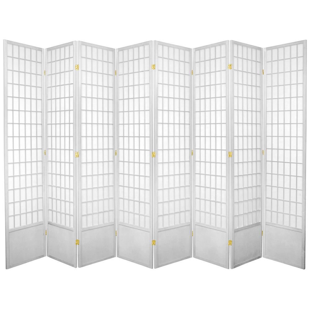 White 8 Panel Room Divider 84wp Wht 8p The Home Depot