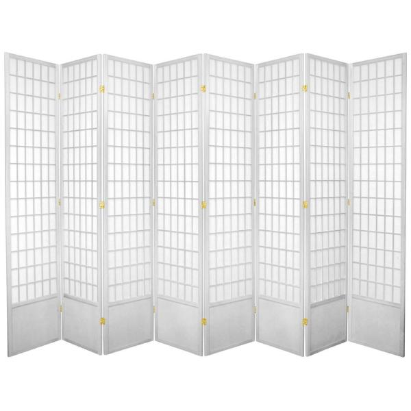 Oriental Furniture 7 Ft White 8 Panel Room Divider 84wp Wht 8p The Home Depot