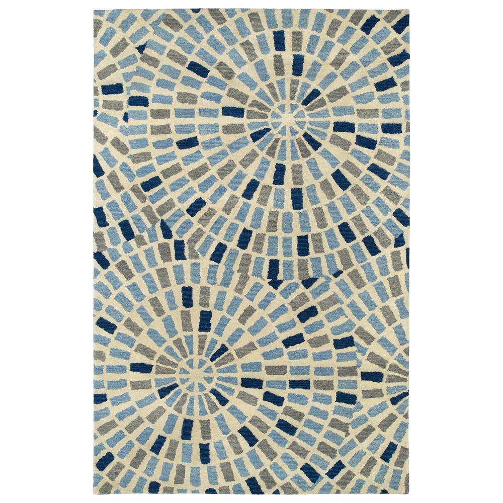 Art Tiles Blue 8 ft. x 11 ft. Area Rug