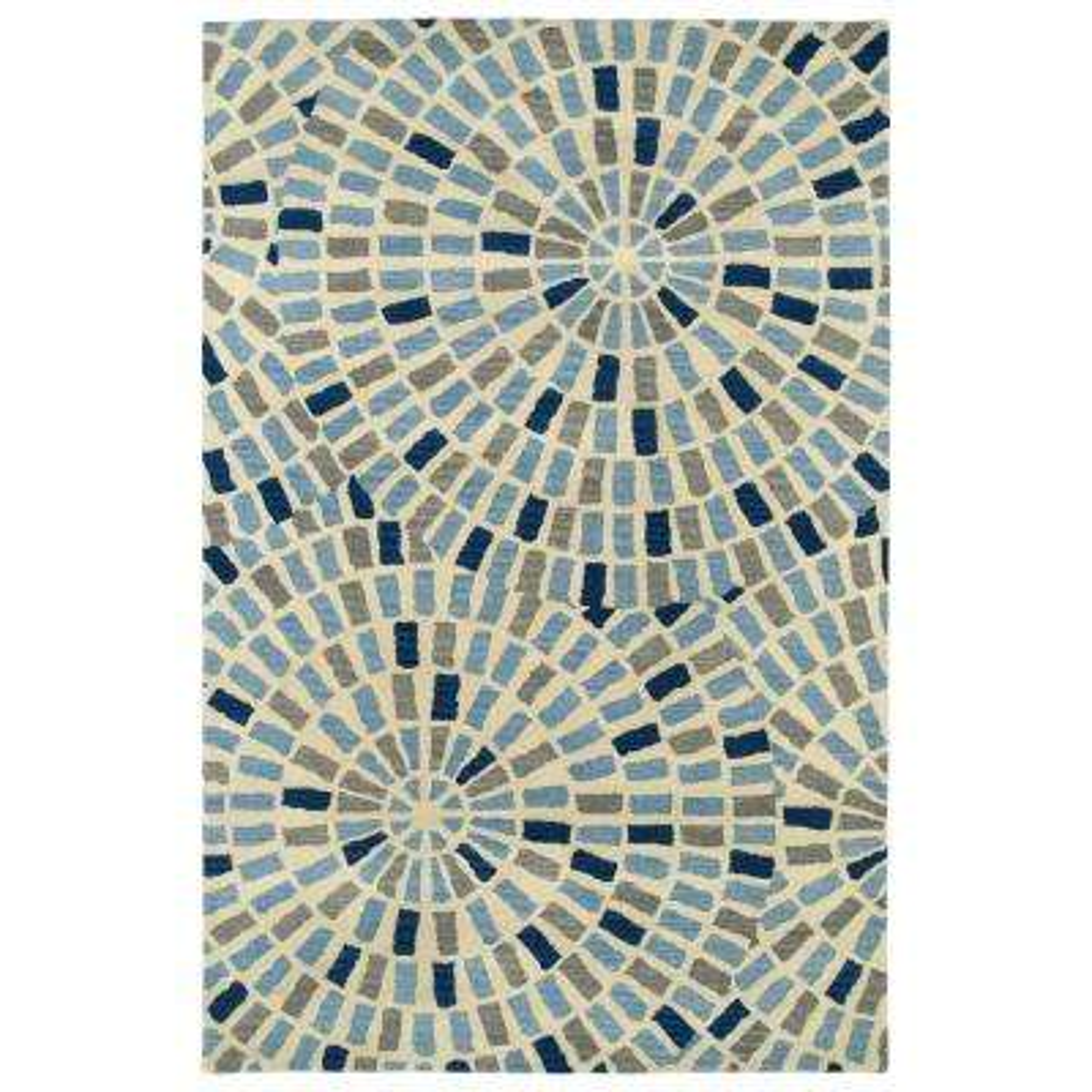 Art Tiles Blue 10 ft. x 13 ft. Area Rug