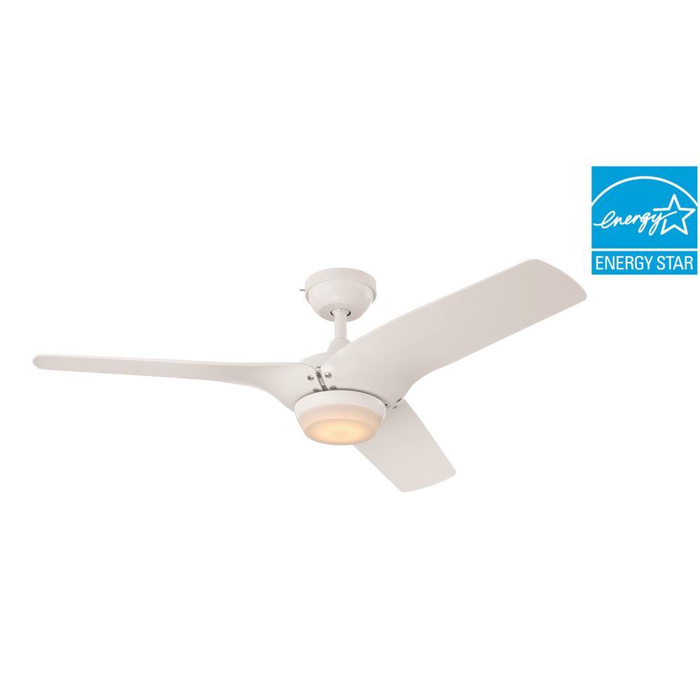 Arrowood II 52 in. LED Indoor White Ceiling Fan